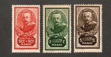 french Morocco  - Sc# B10 - B12 MLH -  Lot 0520232