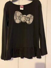 Hello Kitty Girls Clothing Top T-Shirt Black Long Sleeve Top X-Large (14/16)