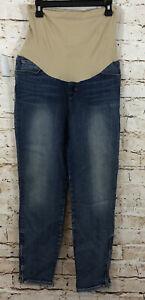 J Brand Maternity capris Jeans size 30 zipper hems NEW secret fit belly AB