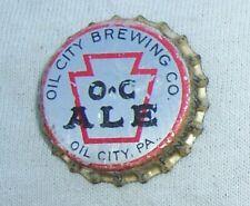 OIL CITY ALE BEER PA TAX CORK BOTTLE CAP - TOUGH CAP - OIL CITY, PA.