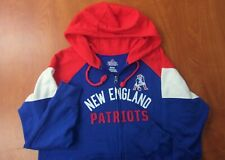 Majestic NFL New England Patriots Football Zip Front Womens Hoodie Sweatshirt XL