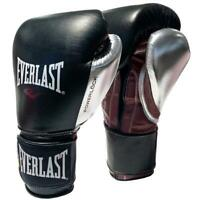 Everlast 16oz. Professional Powerlock Training Boxing Gloves in Black/Silver