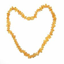 Raw unpolished Baltic amber baby necklace, honey color beads 33 cm /13 inch
