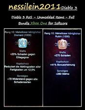 Diablo 3 RoS Xbox One - UNMODDED - Makellose Diamanten - Gold
