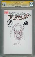 AMAZING SPIDER-MAN 648 CGC 9.8 SIGNATURE SERIES SIGNED x3 STAN LEE GOBLIN SKETCH