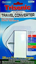 Foreign Travel Converter 1600 W Watt Voltage Step Down Power Adapter 220 to 110