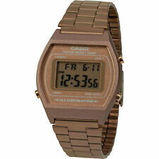 Casio B640wc-5a Unisex Rose Gold Retro Style Vintage Digital Watch 50m Stopwatch