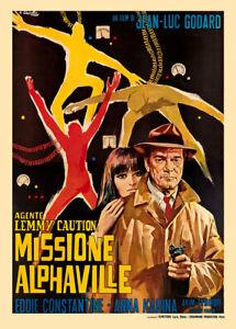 Alphaville 1965 Italian Movie Poster
