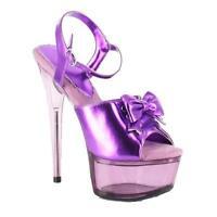 Ellie Shoes 6 Inch Stiletto Heel Lace Up Ankle Strap Platform Sandal