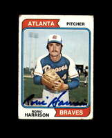 Roric Harrison Hand Signed 1974 Topps Atlanta Braves Autograph