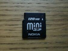 Nokia 128MB Mini SD Card (miniSD) - Vintage Memory Card