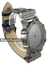 mens big gunmetal black diamond retro clubbing watch designer maxx