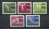 26944) ALBANIA 1963 MNH** European games 5v imperforated