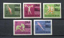 26944) ALBANIA 1963 MNH** European games 5v imperforated