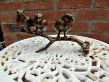 oiseaux sur une branche 3 , statue , animaux en bronze