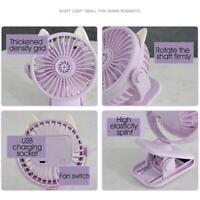 Portable Fan Rechargeable 360° Rotation Clip Mini USB Car Fan Cooling Desk S7F5