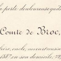 Sosthenes Gonzalve De Broc Le Mans Sarthe 1887