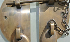 """heavy door  box Latch catch brass furniture antiques bolt chain asian style 3"""""""