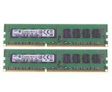 2X 4GB Samsung 4G 2Rx8 PC3L-10600E DDR3 1333Mhz Desktop ECC RAM Memory DIMM #a6x