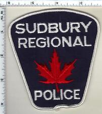 Sudbury Regional Police (Canada) Shoulder Patch from 1973 to 1991