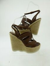 Yves Saint Laurent YSL Cage Espadrille Wedge Sandals Size EU 36.5 UK 3.5