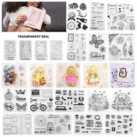 Transparent Clear Silicone Stamp Seal DIY Scrapbooking Card Decor Gift Crafts