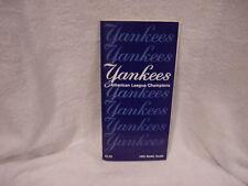 VINTAGE 1982 New York Yankees Media Guide, American League Champions, NMMT!