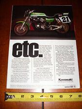 1982 EDDIE LAWSON KAWASAKI KZ 1000R SUPERBIKE - ORIGINAL AD