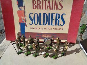 Vintage Britains: Set 1301 USA Military Band active Service dress in box, JJ