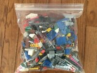 LEGO 2 Lbs Lot Authentic Mixed Bricks & Pieces All Colors