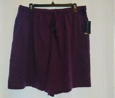 Karen Scott Womens 1X Stretch Purple Exercise Shorts Drawstring NWT Loose Comfy
