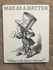 ALICE IN WONDERLAND COASTER: MAD HATTER - MATCHES OUR BOOKS & BAGS NEW IN CELLO