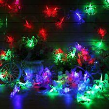 60 10M LED Snow Man Shaped Fiber Optic Fairy String Party Wedding Xmas Decor