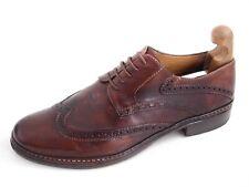 Pakerson Wingtip Brogues Brown Leather Mens Shoe Size EU 42.5 US 9.5