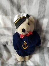 SOFT TOY BEAR WITH ATTACHED NAVY SAILOR OUTFIT, 20cm LENGTH, BRAND NEW