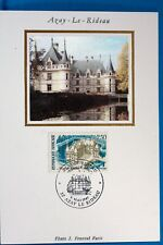 AZAY LE RIDEAU  FRANCE CPA   Carte Postale Maximum  Yt  2464 C