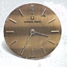 Antique UNIVERSAL GENEVA 21j Swiss Wrist Watch Movement For Repair #W235