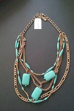 New - NWT Silpada Toes In The Sand Turquoise Necklace/#B1