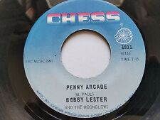 """BOBBY LESTER & THE MOONGLOWS - Blue Velvet / Penny Arcade 1962 DOO WOP Chess 7"""""""
