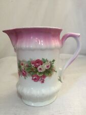 "Pretty Vintage Floral Jug Shabby Chic Country Cottage Style Pink 6"" VGC"