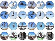 24 Bicicleta BMX Stunt Cake Topper acción Bollo Hada Cupcake Toppers Cumpleaños Fiesta