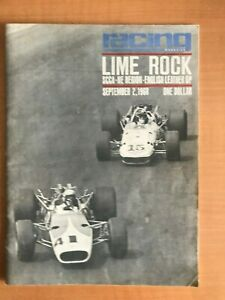 1968 Racing Magazine Lime Rock SCCA No. New Jersey National Racing Program