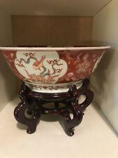 Antique Famiile Rose bowl