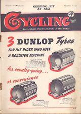 Vintage Cycling Magazine 24th Nov 1949 Keeping Fit at Sea (BB 2)