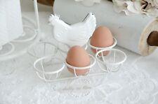 Clayre & Eef Eierhalter Eierkorb Eierständer Shabby Chic Landhaus Küche