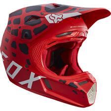 Fox V3 Grav Motocross Mx Casco - Rojo Enduro Moto Mtb Bmx Mips