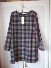 BOYU Ladies Green Check Tunic with Pockets Size XL (16)