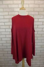 NEW Style & Co Womens Top Shirt Open Cold Shoulder Blouse Plus Size 1X Red NWT