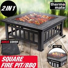 2IN1 BBQ Outdoor Fire Pit BBQ - Brazier Garden Grill Camping Heater Fireplace