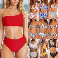 Women's High Waist Swimwear Push Up Bikini Set Padded Swimsuit Bathing Suit USA
